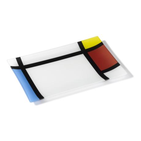 Ring Glass Platter - Mondri (M)