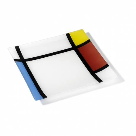 Ring Glass Platter - Mondri (L)