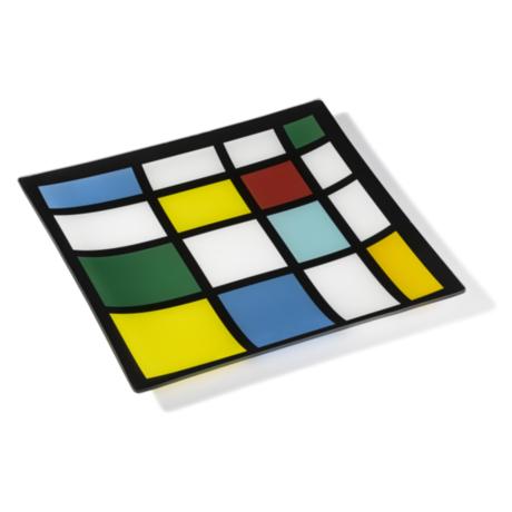 Ring Glass Platter - Lattice (L)