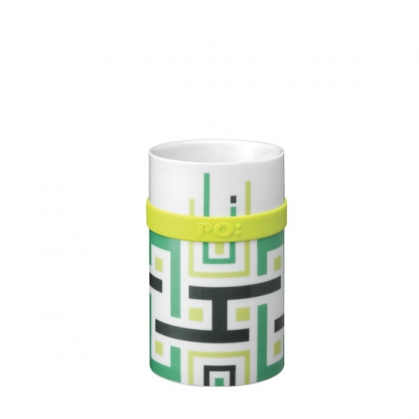 Ring Mug - Green Geometric (M / L)